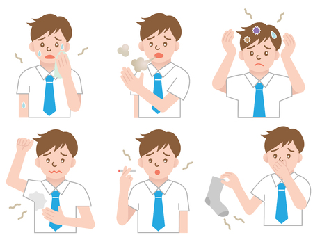 odor businessman Illustration