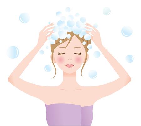 shampoo woman