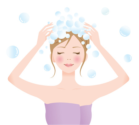 haircare: shampoo woman