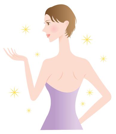 mujeres de espalda: belleza de la mujer de vuelta Vectores