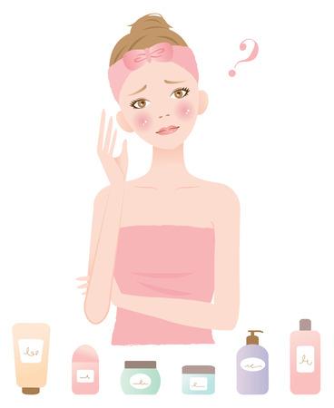 Ciò che la cura della pelle è giusto per me Archivio Fotografico - 55736665