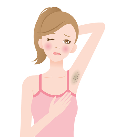 unwanted: darkened armpits Illustration
