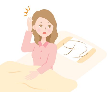 hair loss woman Illustration