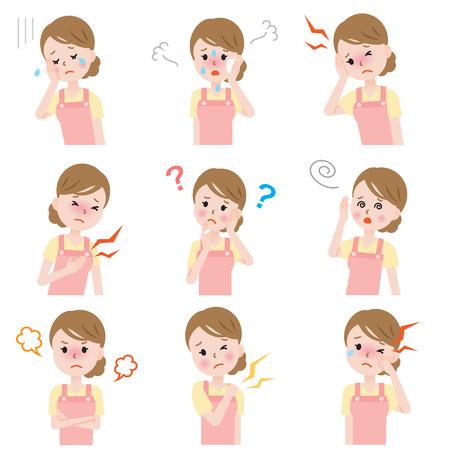 cansancio: las mujeres experimenta síntomas incómodos, sofocos, irritabilidad, depresión, falta de memoria, dolor en las articulaciones, mareos, dolor de cabeza, pulsátil, y sequedad en los ojos durante la menopausia y la premenopausia.