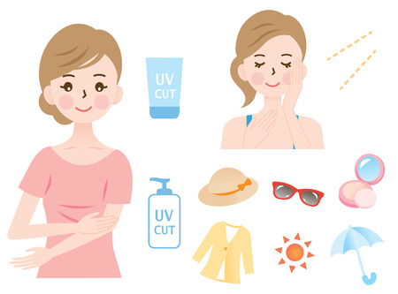 UV bescherming Stock Illustratie