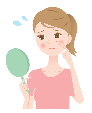 acne vrouw Stock Illustratie