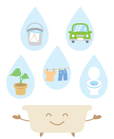 재사용 목욕 물