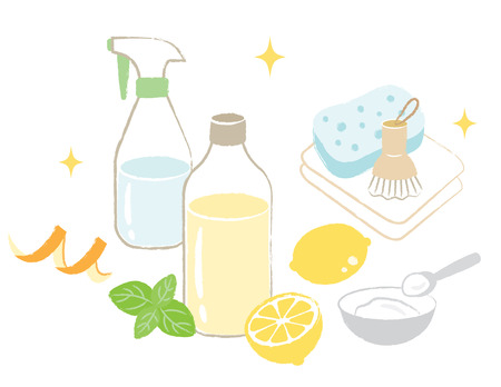 natural cleaning Ilustrace