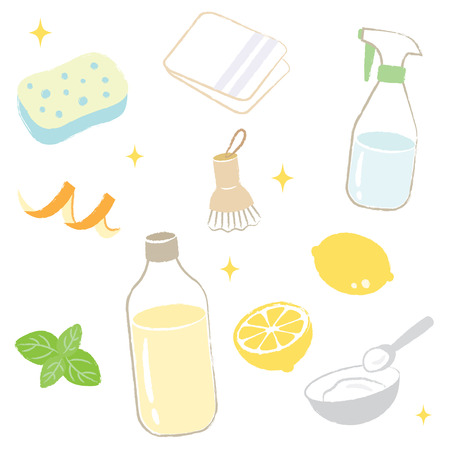 green cleaning: natural cleaning Illustration