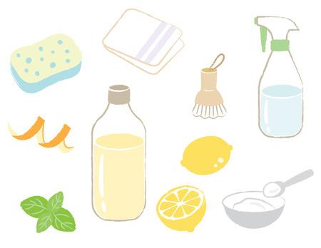 natural cleaning Vektoros illusztráció