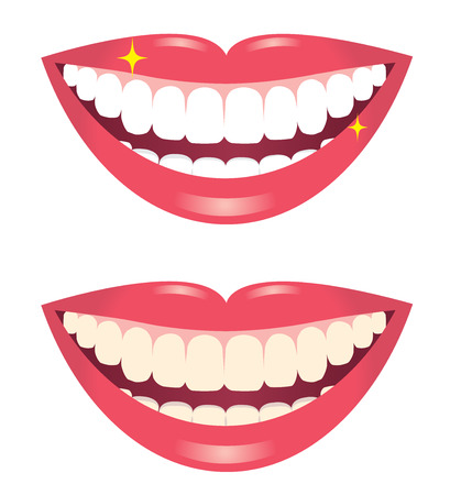 whitening teeth isolated on white background