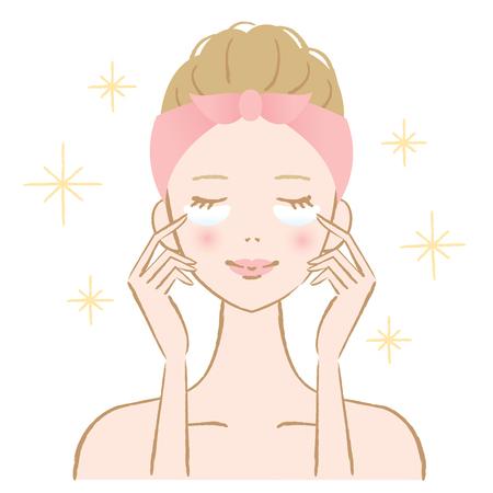 Eye mask skin care woman