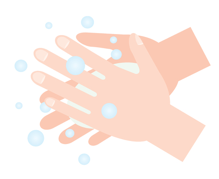 washing hands with soap Illustration