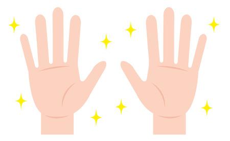 clean hand. hand hygiene Vectores