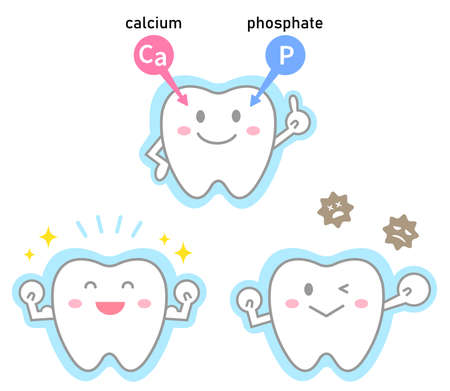fluoride treatment on cute smiling teeth. Dental care concept