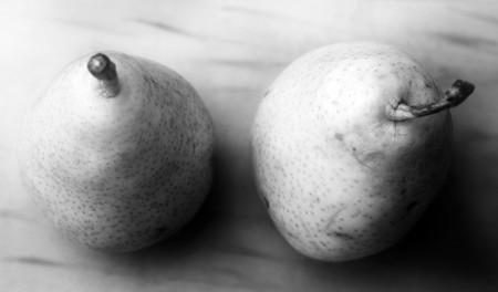 bw: Pears still life, b&w Stock Photo