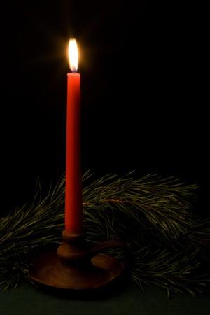 Christmas candle, still life. photo