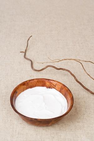 shea butter: Beauty treatment. Shea butter (body balsam) Stock Photo