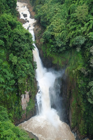 The beautiful waterfall at Khao Yai national park, in Thailand photo