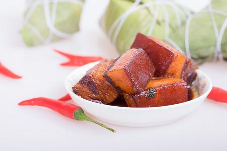 chinesisch essen: Braised Pork Lizenzfreie Bilder