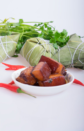 chinese culture: Braised Pork Stock Photo