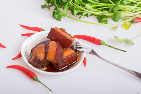 delicious food: Braised Pork Stock Photo