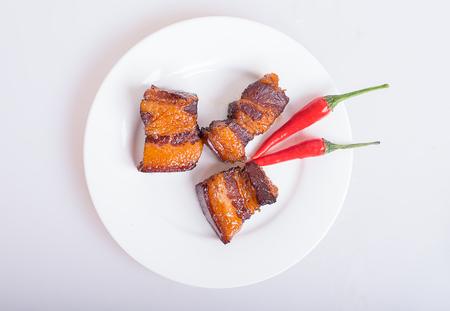 fat food: Braised Pork Stock Photo