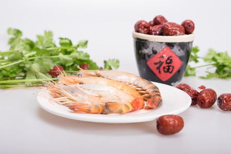 aquatic products: shrimp Stock Photo
