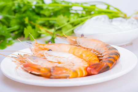 aquatic products: Shrimps Stock Photo