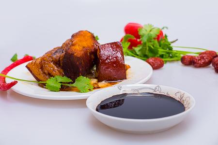 sauce dish: Pork belly