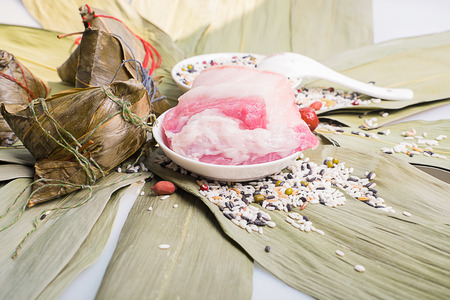 to lean: zongzi & lean meat Stock Photo