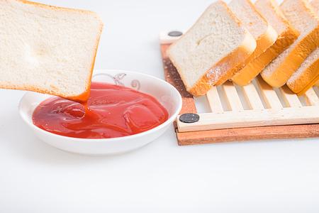 strawberry jam: Bread with  strawberry jam