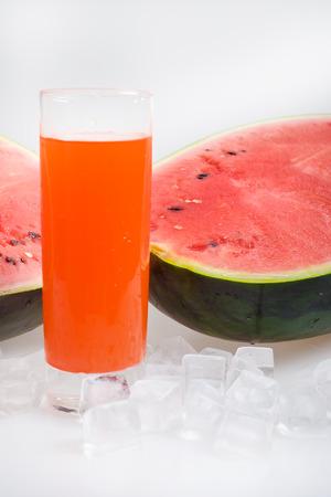icecube: watermelon Stock Photo