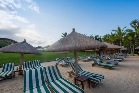 sunbath: sunbath at Hainan beach