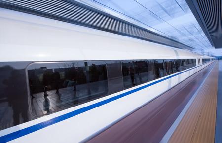 high speed: High speed train