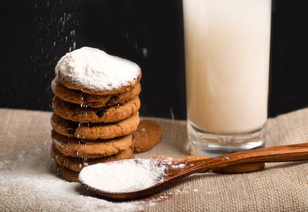 fullframes: Biscuit with milk Stock Photo