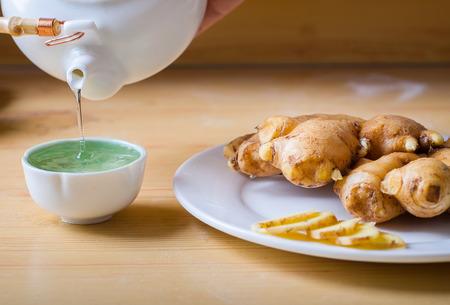 fullframes: ginger slice with ginger tea