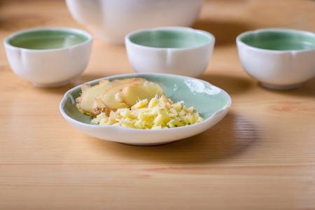 fullframes: raw ginger with ginger tea