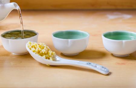 fresh ginger: fresh ginger with ginger tea Stock Photo