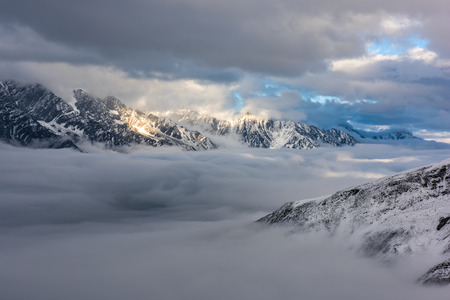 snow capped mountains: The snow capped mountains Stock Photo