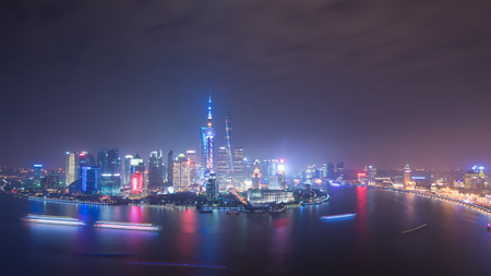 shanghai night: shanghai night view