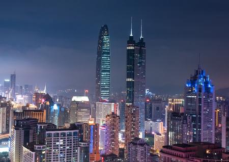 publicidad exterior: vista nocturna de Shenzhen