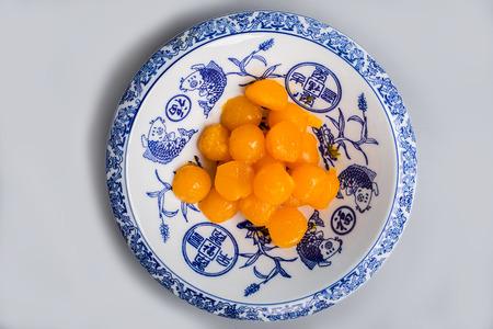 yolks: Yolks in a plate