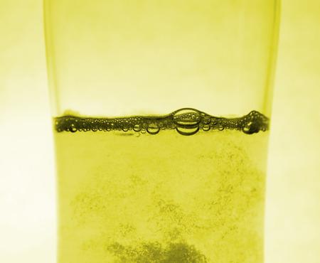 alveolos: cerveza Burbuja Foto de archivo