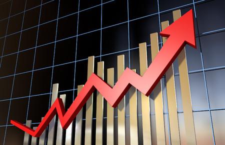 Economic chart Standard-Bild