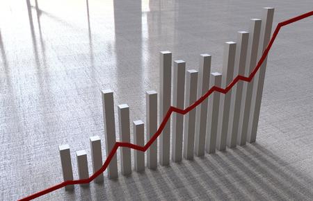 economic: Economic chart Stock Photo