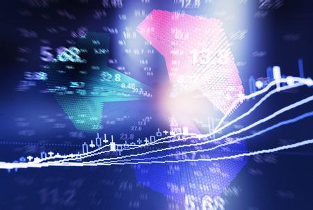 stock predictions: Dati finanziari Archivio Fotografico
