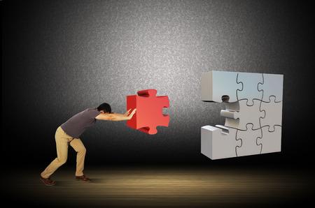 ser humano: Ilustraciones rompecabezas con los seres humanos