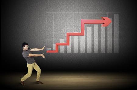 incremental: Graph of rising economic