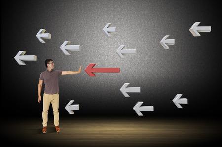 ser humano: Las flechas que apuntan hacia un ser humano